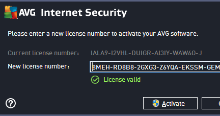 avg antivirus activation key