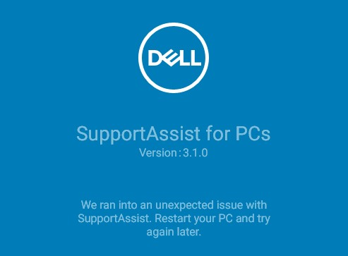 Dell SupportAssist Install