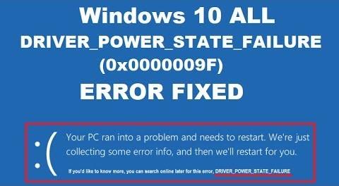 Hp Driver Power State Failure Error