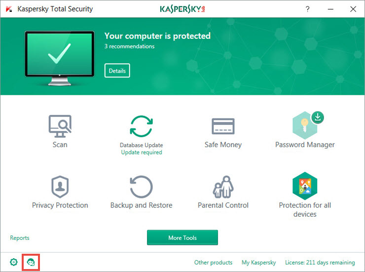 Kaspersky Total Security Support