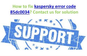Kaspersky Update Error Code 85dc0034