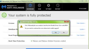 Malwarebytes Error Code 20025
