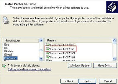 Panasonic Printer Driver kx-mb1900
