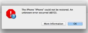 iPhone 4013 error
