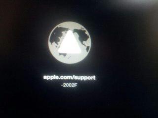Apple Macbook Error 2002f