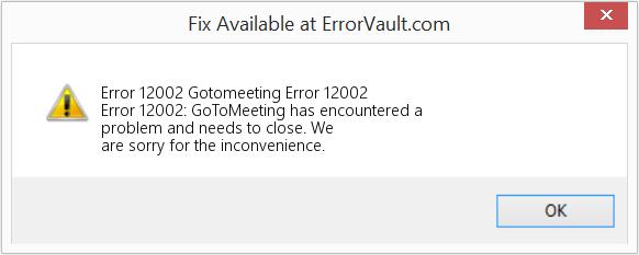 COMODO Error 12002