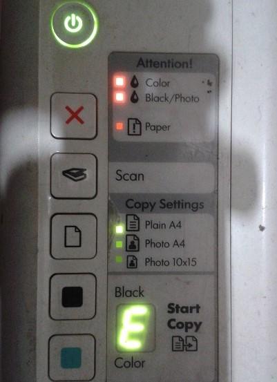 HP Printer Blinking Light Error