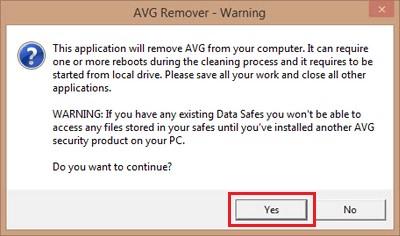 Uninstall AVG Antivirus