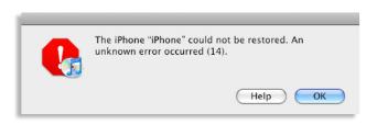 iTunes Error14