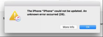 iTunes Error 26
