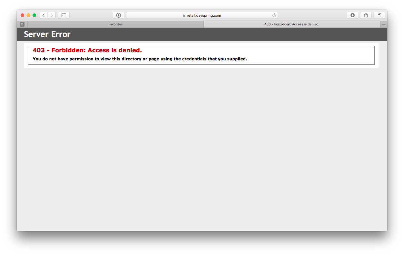 macbook pro error 403