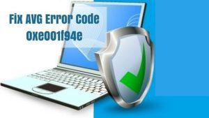 AVGError Code 0xe001f94e