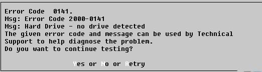 Dell Laptop Error 0141