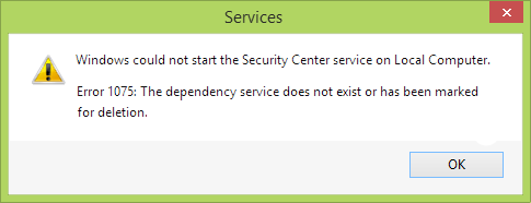 Malwarebytes Error Code 1075