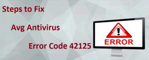 AVG Antivirus Error 42125