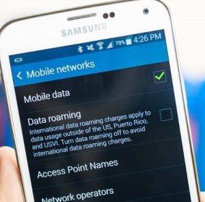 Samsung Mobile Internet Connection Problems