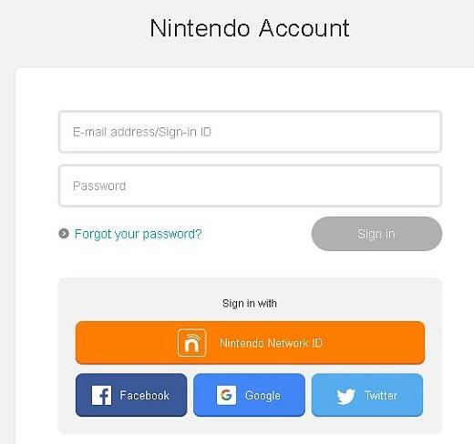 Nintendo Login