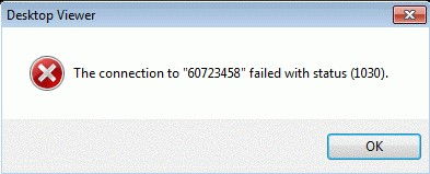 Desktop Error 1030