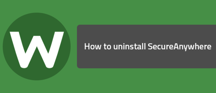 webroot secureanywhere antivirus uninstall