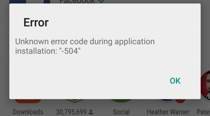 samsung tab error 504