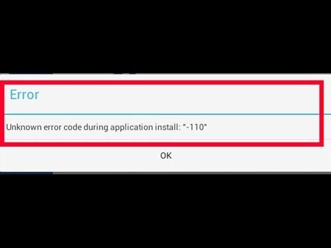 samsung tab error 110