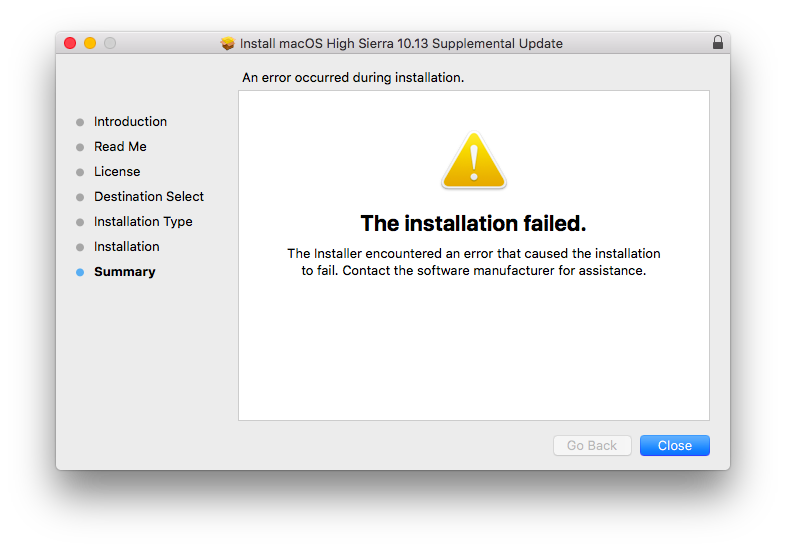Macbook can't Install Updates