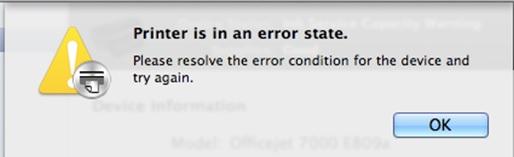 Ricoh Printer in an Error State