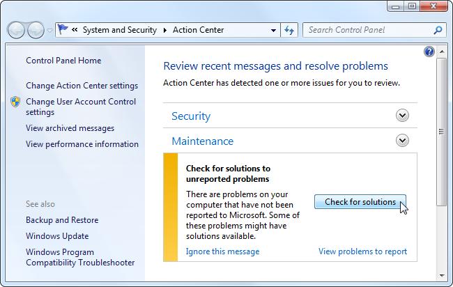 computer error blue screen