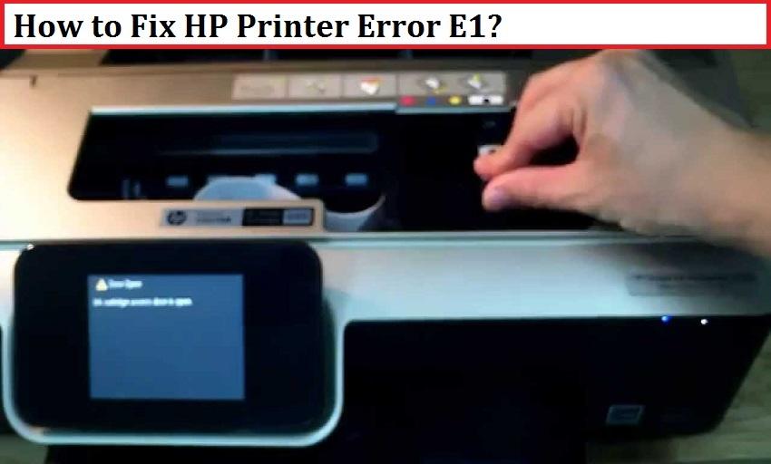 Brother Printer Error Code E1