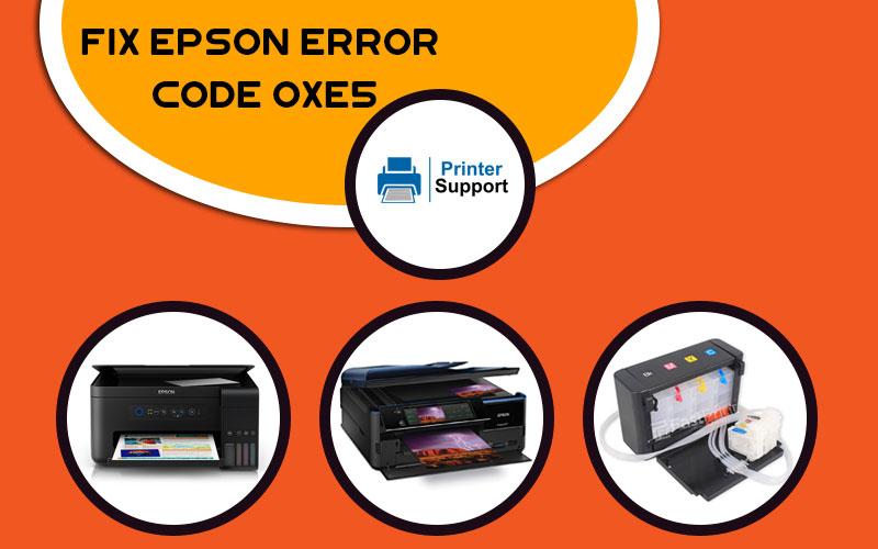Epson Error Code oxe5