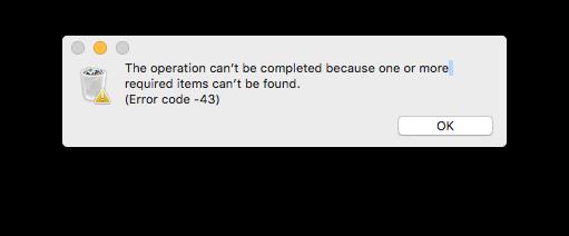 Macbook Error Code 43