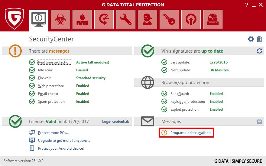 G Data Antivirus Update