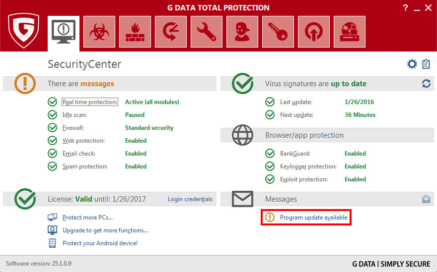 G Data Antivirus Update