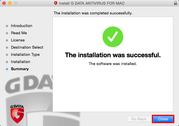 G Data Antivirus for Mac OS