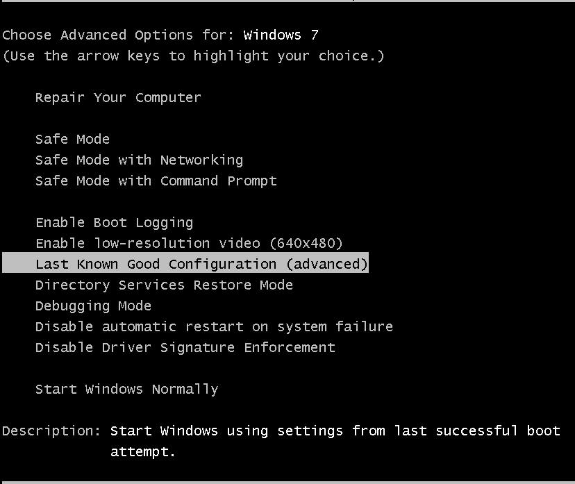 Acer Laptop Windows Error Recovery