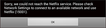 Netflix Error 15001