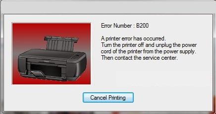 Canon MX922 Error Code B200