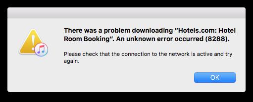 iTunes error 8288