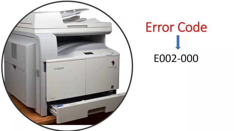 Canon IR 2202 Error code E002-000