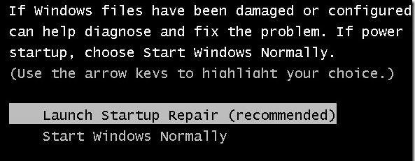 Acer Laptop Windows Error Recovery
