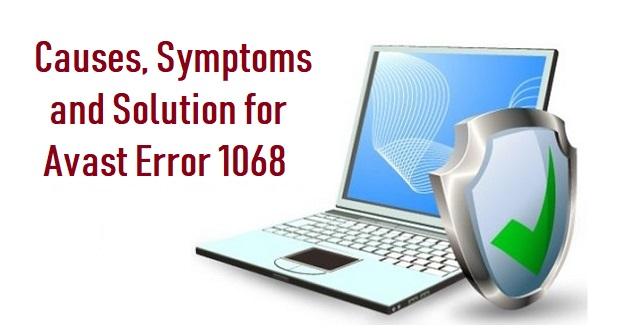 Avast Error 1068