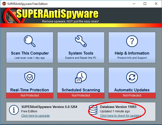 superantispyware Offline Update