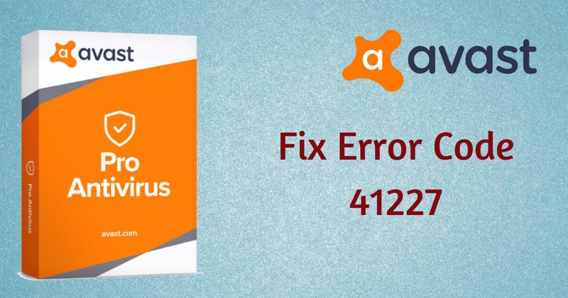 Avast Error 41227