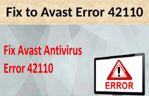Avast Error 42110