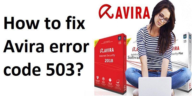 Avira Antivirus Error 503