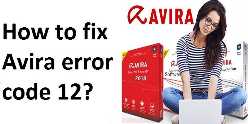 Avira Antivirus Error Code 12