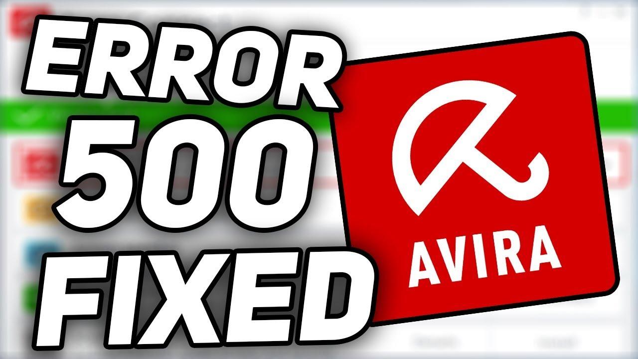 Avira Antivirus Error 500