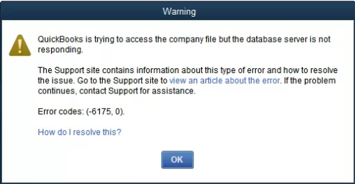 Quickbooks Error message 6175