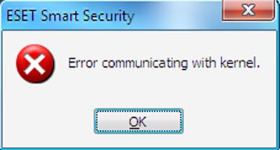 Eset error communicating with kernel
