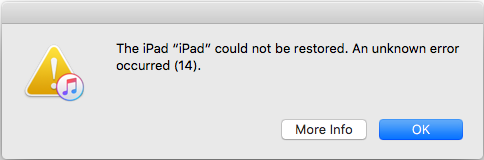 Apple iPad error 14